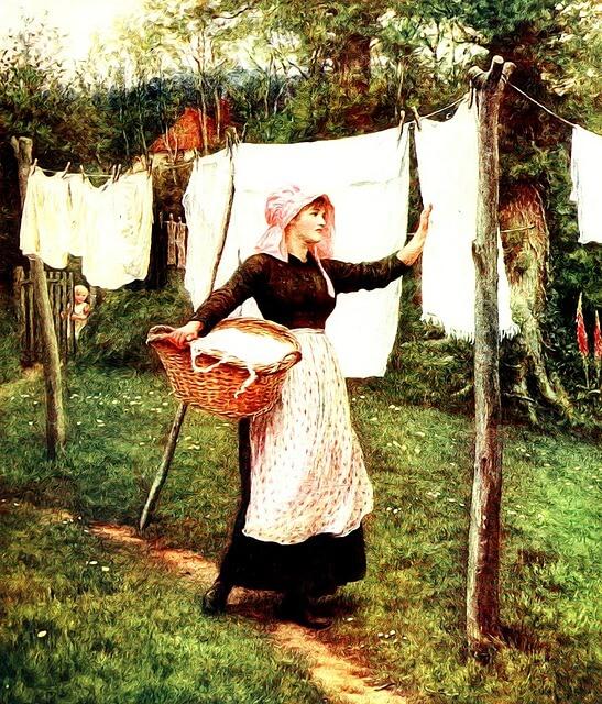 Pyykit kuivumaan